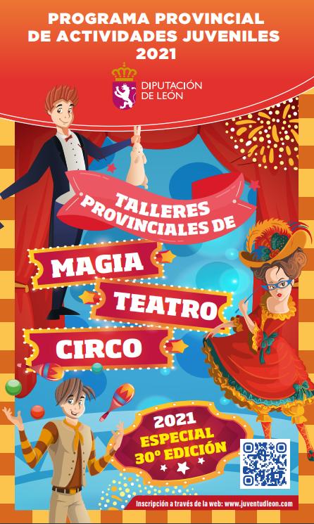 Cartel Talleres de Teatro, magia y Circo